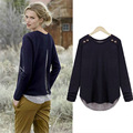 Горячая! весна и Осень Мода Женщины с длинными рукавами свитер Тонкий трикотаж для женщин, бесплатная доставка 3 цвета