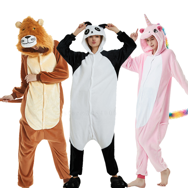 pajamas   Kigurumi Unicorn   Pajamas     Set   Women Animal Pijamas Winter flannel   pajama   Cosplay Custome Onesies Nightie Pyjama Sleepwear