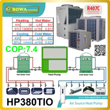 Super energy saving climate equipments- air conditoner and water heater combination, pumping water to higher and lower positions