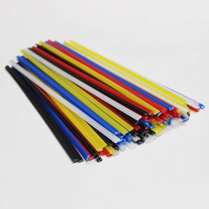 plastic welding rod bumper repair kit pp polypropylene black round moto auto car boat fairing weld filler hot air welder gun bar