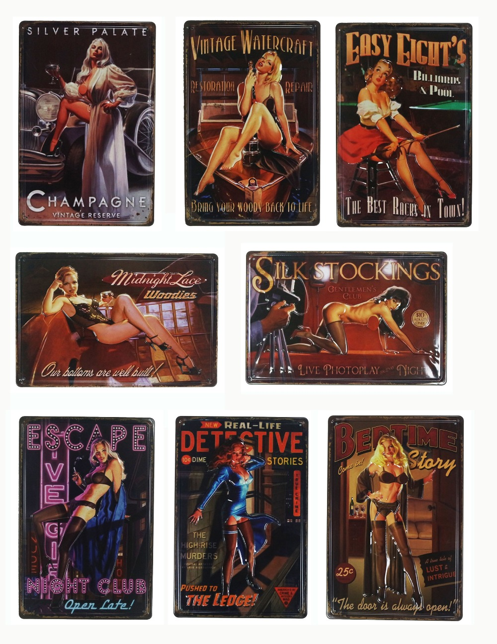 30 20 cm 3D sexo en relieve chica Vintage decoración del hogar Pub lata cartel de pared decoración Metal placa Retro placa