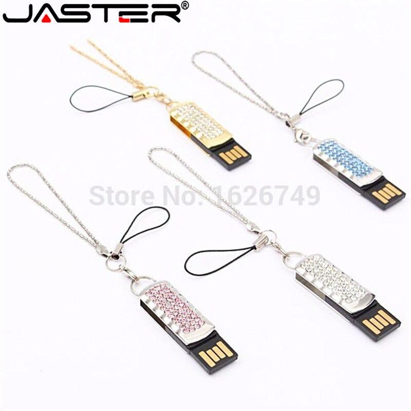 Pen-Drive Memory-Stick Diamond Simple Usb-Flash Rhinestone 16GB Wedding-Gift 8GB Bling