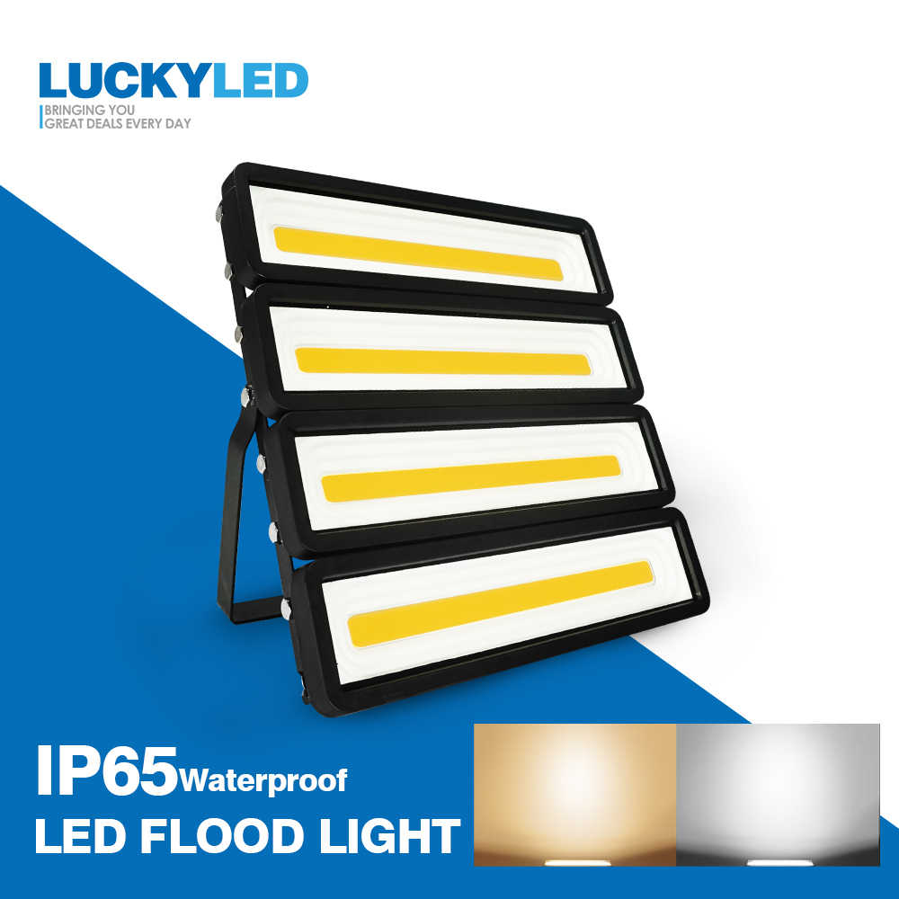 LUCKYLED Led Flood Light 50W 100W 150W 200W Led Spotlight Outdoor 220V 240V Waterproof Ip65 Floodlights Led Projector Light