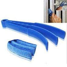 Mikrofiber çıkarılabilir yıkanabilir temizlik fırçası klip ev silgi pencere yaprakları kör temizleyici fırçalar aracı