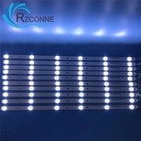 10pcs 575mm 6leds LED Backlight Lamps strip kit Optical Lens Fliter for 55 inch LCD LED TV 18v input billboard IC G VZAA55D809