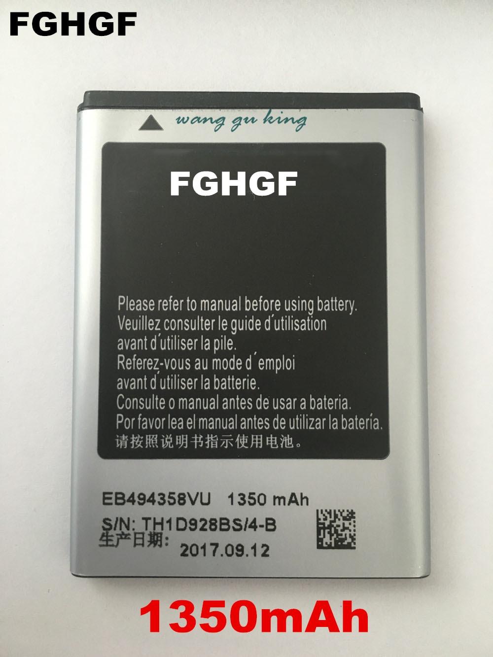 Fghgf Оригинальный Новый Батарея для Samsung Galaxy Ace S5830 <font><b>S5660</b></font> S5670 EB494358VU Ёмкость 1350 мАч