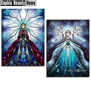 Diy 5D Diamante Pintura Ponto Cruz Dos Desenhos Animados Da Princesa Diamante Bordado Padrões Completa Broca Mosaic Home Decor Art 062705