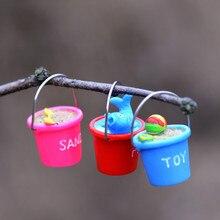 Reçine minyatür plaj kova DIY zanaat aksesuar ev bahçe dekorasyon aksesuarları