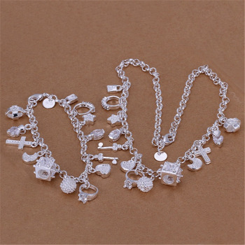 13 charms crystal pendant women party necklace bracelet jewelry