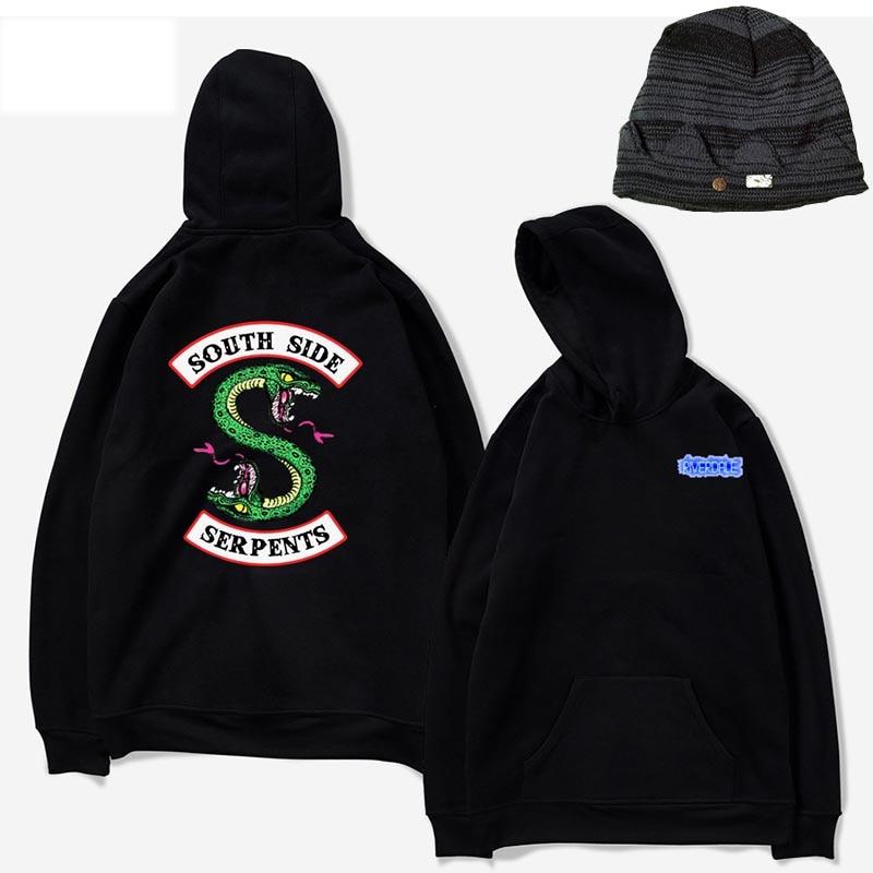 Sweatshirts Riverdale Hoddie Cotton Jughead Men Women Hoodies Sweatshirt Tops Pullovers Blouse Kpop Hooded Streetwear Riverdale
