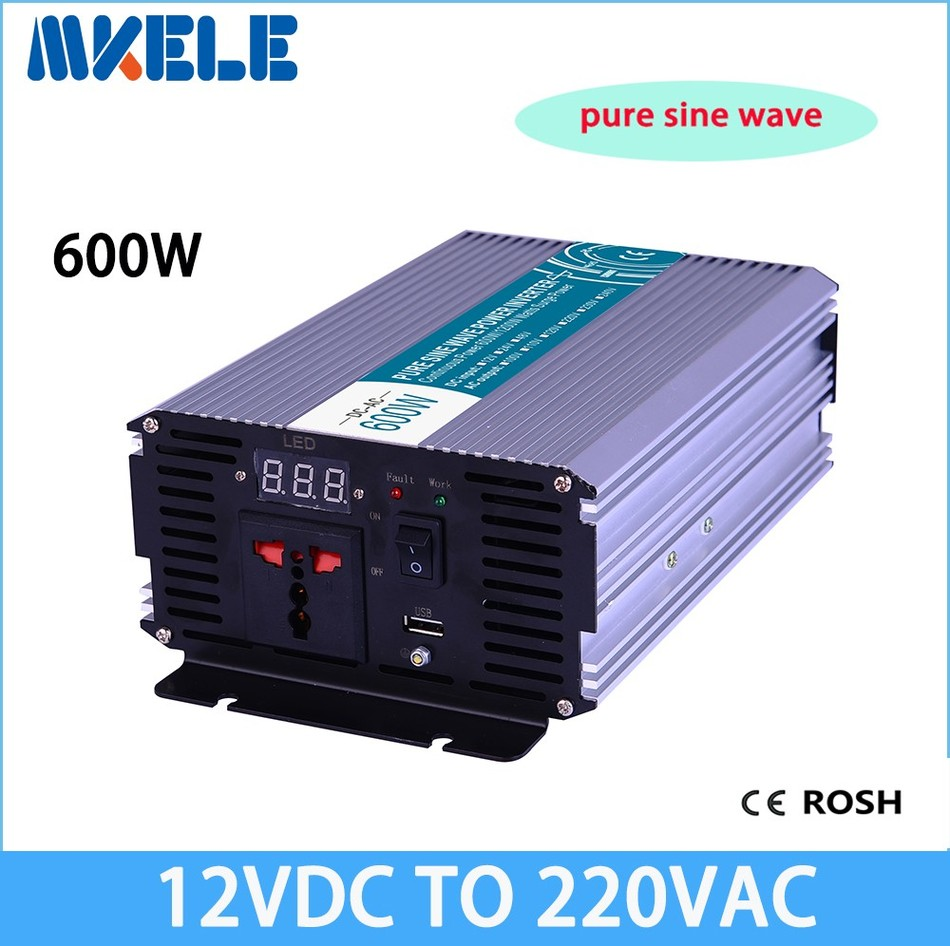цена на MKP600-122 600w off grid inverter pure sine wave 12vdc to 220vac voltage converter,solar inverter