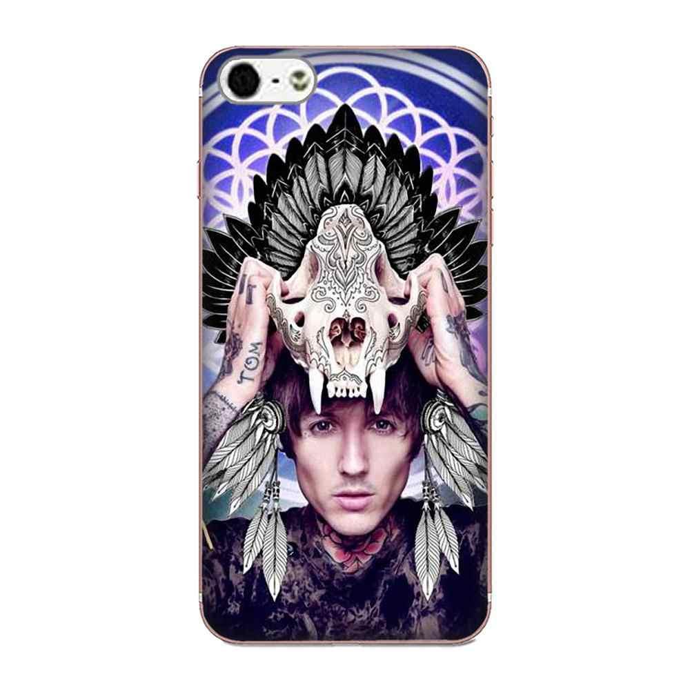 Bmth череп головы Bring Me The Horizon ТПУ футляры для мобильных телефонов для samsung Galaxy Note 5 8 9 S3 S4 S5 S6 S7 S8 S9 S10 мини Edge Plus Lite