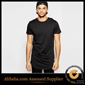 New Arrival Hiphop Tee Shirt short Sleeve T-shirt Men Cotton Free Shipping with curved hem round bottom t shirt Hip hop t-shirts