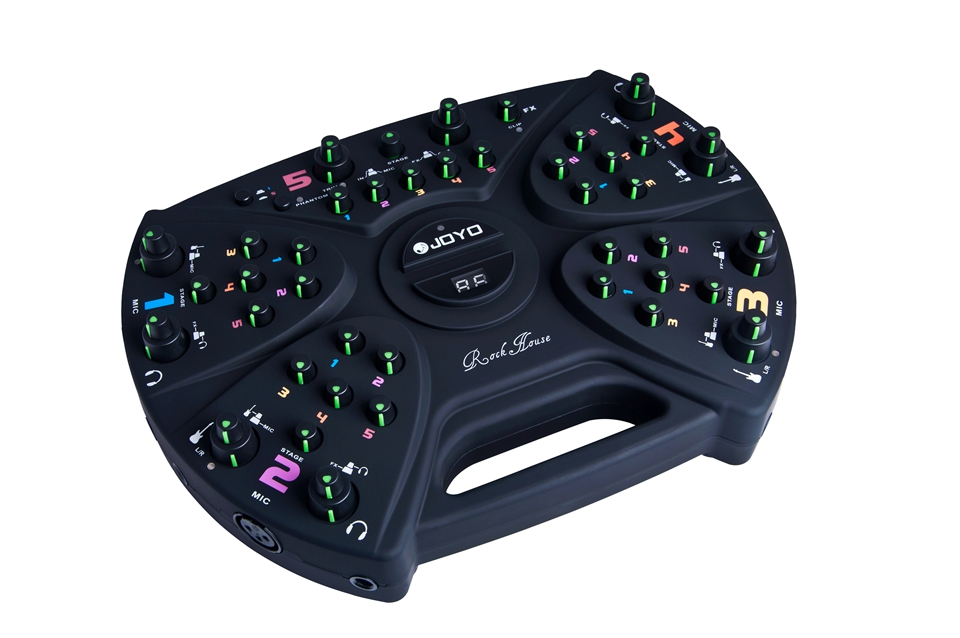 JOYO Mute Music Practice System Rock House 5-player practice station effects including Reverb, Delay, Chorus and Flanger spirituals and gospel music performance practice
