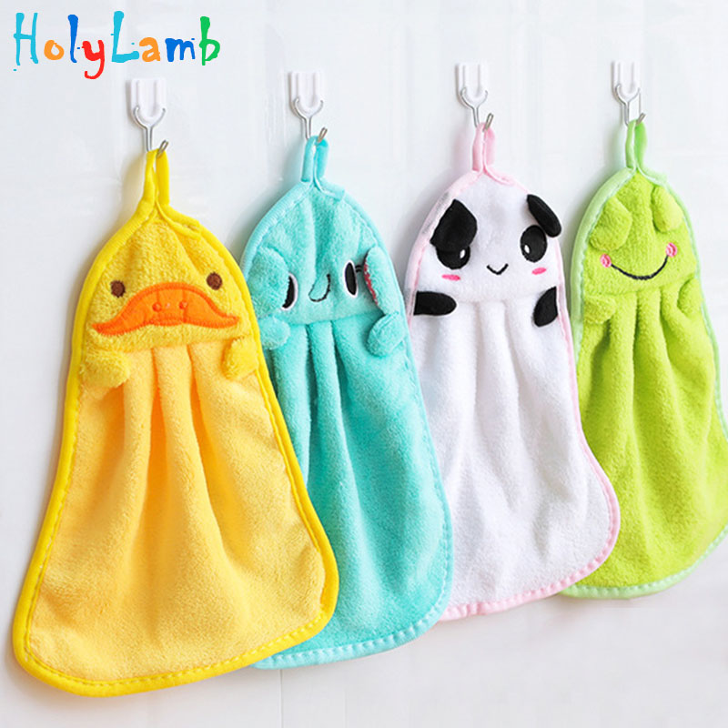 Baby Hand Towel Soft Bow Hanging Towel Wipe Bath Face Towels Breathable Extra-absorbent Cloth Handwash Towels 2016 New arrival 1 piece baby bath towels 100