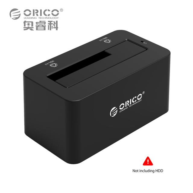 ORICO USB3.0 to SATA 3.0 External Hard Drive HDD Docking Station for 2.5'' & 3.5'' HDD, SSD [Support UASP & 8TB Drives] (6619S3)
