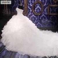 f633aab2ac ... suknie ślubne księżniczka suknia gorset Organza Ruffles katedra. VNXIFM  2019 Luxury Beaded Embroidery Bridal Gowns Princess Gown Corset Organza  Ruffles ...