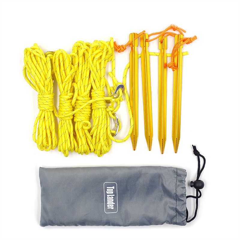 200kg Breaking Strain Conquest Outdoor Gear Ultra Light 2mm Dyneema Reflective Tent Guy Guide Rope 5