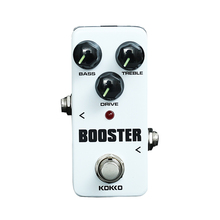 KOKKO Mini Overdrive Guitar Effect Pedal Guitarra Booster High-Power Tube Two Segment EQ Device FBS-2