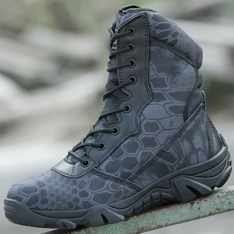 Outdoor Sport Hiking Shoes Tactical Boots Military Combat Boot Army Non  slip Shoes Mountain Chaussure Chasse Sapatos Masculino -in Hiking Shoes  from Sports ... 9eb85162bb