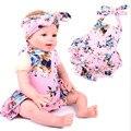 Новорожденный ребенок Ползунки соответствует Узел повязки девушки бутик наряд, старинные цветочные детские ползунки Ребенка Bubble комбинезон