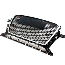 Q5 Chrome Frame Black Front Bumper Mesh Grille Guard For Audi Q5 2013-2015 RSQ5 Style(China)