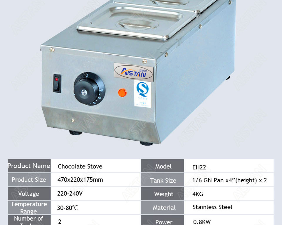 EH22/EH23/EH24 Electric Chocolate Stove Chocolate Melting Pot DIY Kitchen Tool of Catering Equipment 5