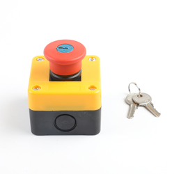 1NO+1NC e-stop push button switch emergency stop switch with key