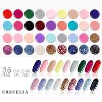 COSCELIA 36 Color/Kit Nail Art Tips DIY Design Manicure UV LED Soak Off Paint Color UV Gel Varnish Nail Gel Polish Gel