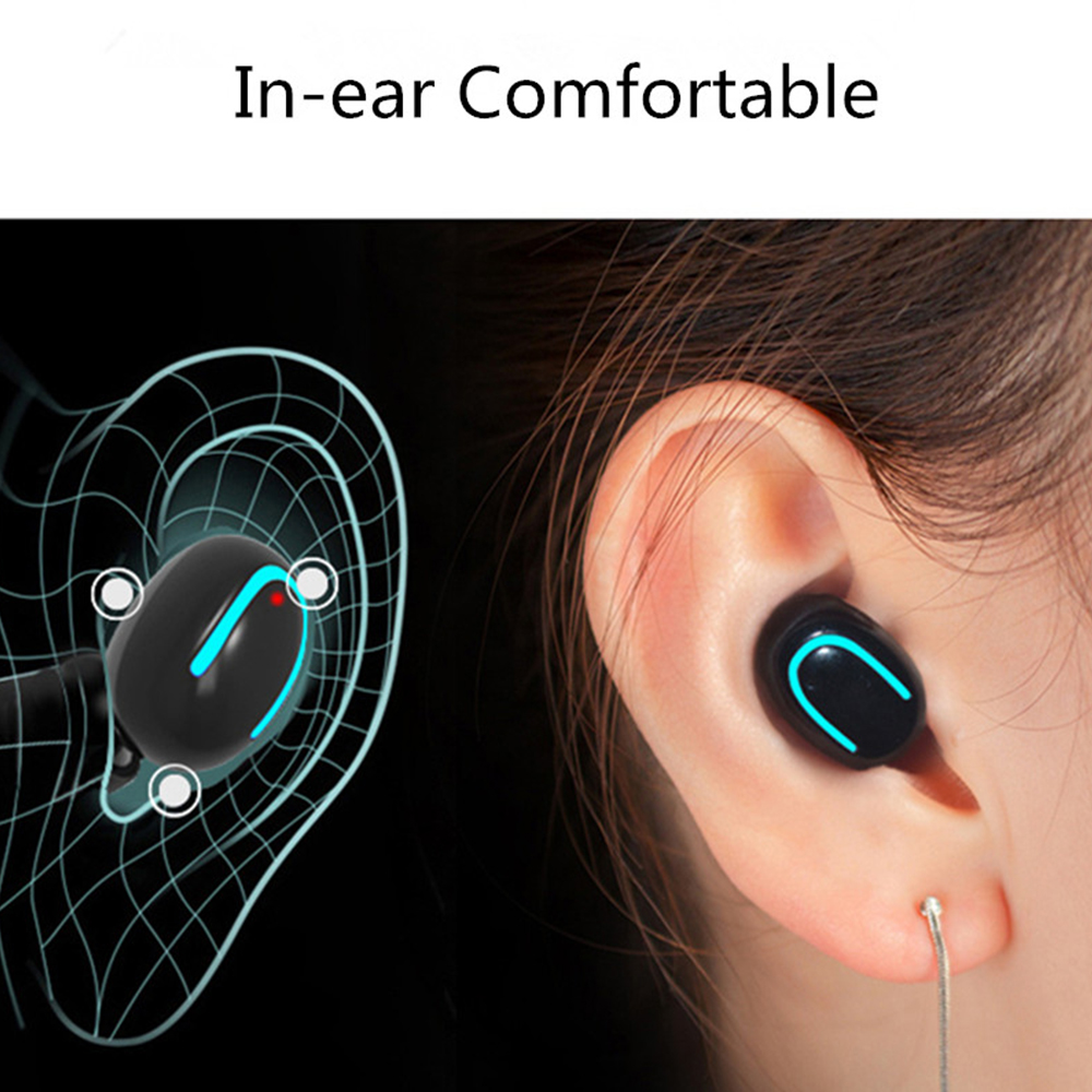 TWS Wireless Earphones Bluetooth 5.0 Headsets Mini gaming headphones with HD MIC 2600mah charging case for xiaomi iphone samsung