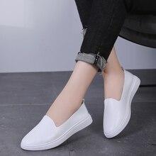 AARDIMI Shallow Women Flats Shoes Genuin