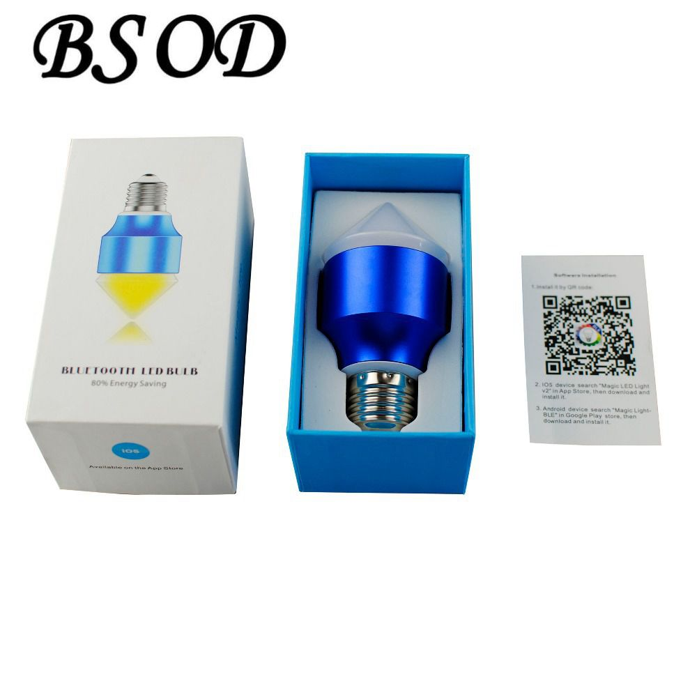 20 pcs New Smartphone Control Multicolor Bluetooth Crystal Lamp RGBW 6w E27 LED Bulb IOS Android icoco e27 smart bluetooth led light multicolor dimmer bulb lamp for ios for android system remote control anti interference hot