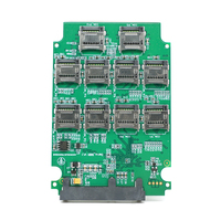 10 ports Micro SD TF Memory Card to SATA SSD Adapter with RAID Quad 2.5 Inch SATA Converter