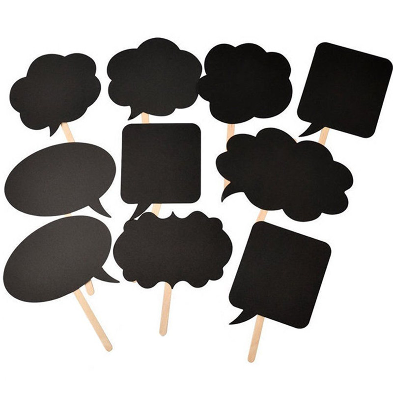 buy fengrise 10pcs photo booth props wedding decoration diy mini chalkboard wedding signs sweet gifts birthday event party supplies from