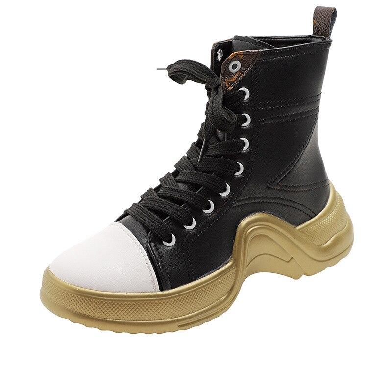 Chaussures Noir Beat Street Automne Tendance blanc Casual Mode Plates Femmes Correspondance Nouvelle Semelles Épaisses 2018 Des Couleurs À vxwadO