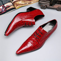 2017 Fashion Red Patent Leather Pointed Toe Dress Shoes Mens Bussiness Formal Male Shoes Wedding Party