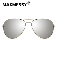 MAXMESSY Hiking Eyewear Aviator Men Sunglasses Designer Women Driver Sun Glasses Superstar Mirror Unisex Accessories AS003