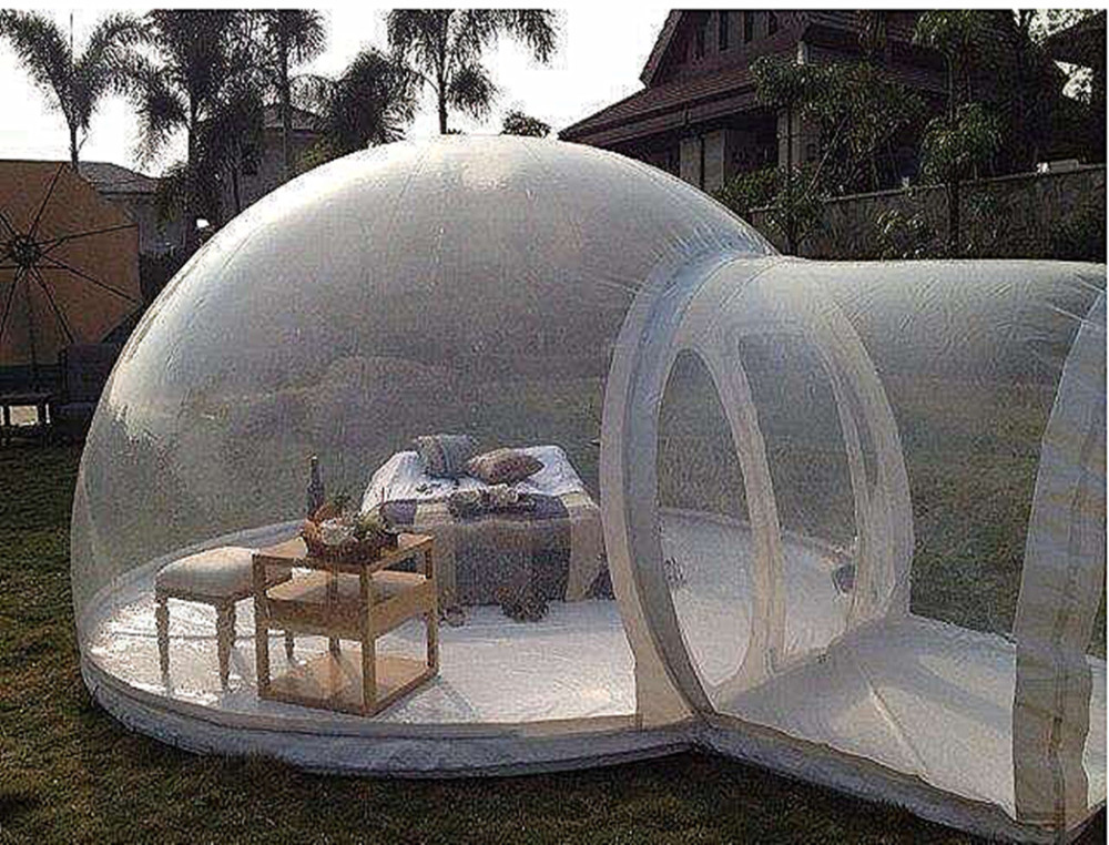 Transparent outdoor camping Inflatable clear Bubble Tent in Tents from Sports Entertainment