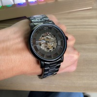 Men Watches Steampunk Open Work Inside Luxury Design Skeleton Mechanical Movement Mens Automatic Watches Top Brand Luxurry