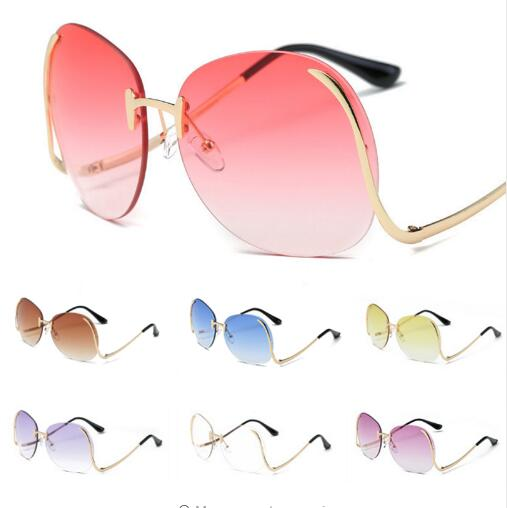 New Style Women Sunglasses Oversize Rimlesss Sun glasses Trasparente Lens AQ414-423 Sunglasses