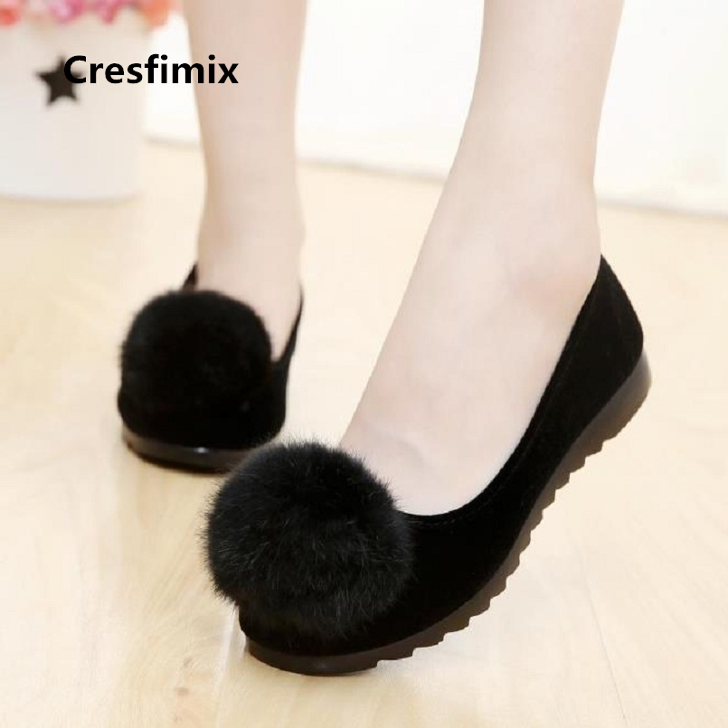 Cresfimix femmes appartements women fashion plus size black flat shoes lady cute comfortable dance loafers retro shoes a2011 cresfimix femmes appartements women fashion comfortable mesh breathable flat shoes lady cute beige bow tie shoes zapatos b2859