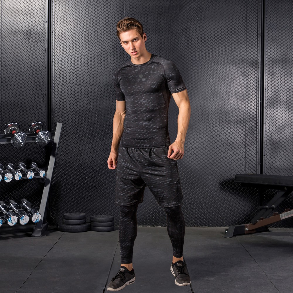 Hot DealsTracksuits Joggers Running-Sets Compression Fitness Sports Gym Men Quick-Dry Men's High-Quality