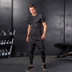 Image 3 - Hohe Qualität Compression Männer der Sport Anzüge Quick Dry Lauf sets Kleidung Sport Jogger Training Gym Fitness Trainingsanzüge Lauf