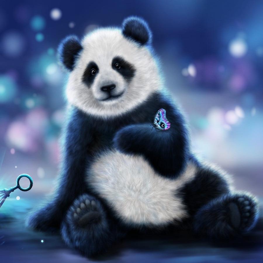 3d Diy Diamond Painting Animal Cartoon Bear Full Square Crystal