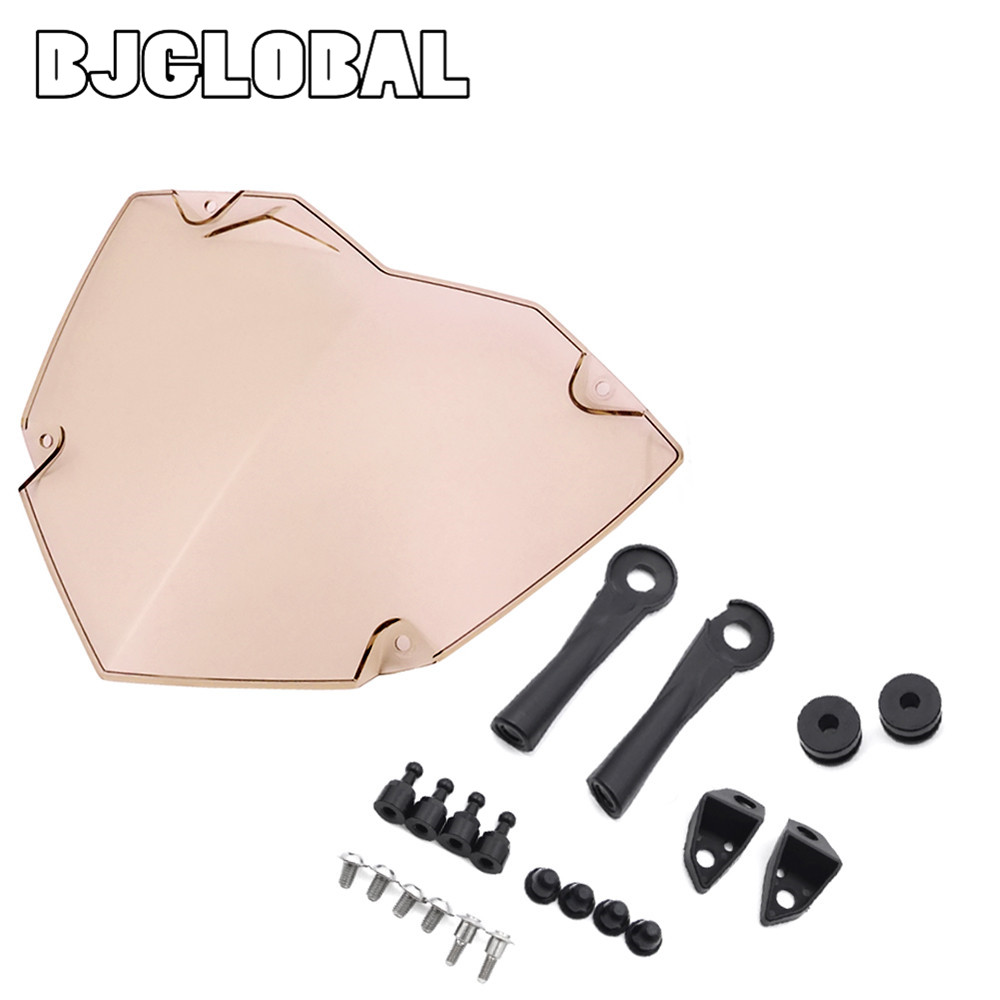 BJGLOBAL Front Headlight Guard Cover Lens Protector For BMW R1200GS WC ADV WC 14-17 Smoke