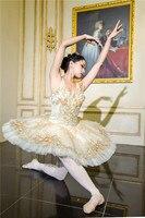 Profesjonalny balet tutu pancake tutu klasyczny balet baleriny księżniczka Aurora srebrny księżyc Clara w dziadek do orzechów Coppelia w Balet od Elementy błyszczące i specjalne zastosowania na