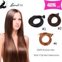 Dark Brown Stick I Tip Brazilian Virgin Straight Hair Extensions 5 Colors 16″18″20″22″24″ Best 10 Grade Stick i Tip Hair Sale