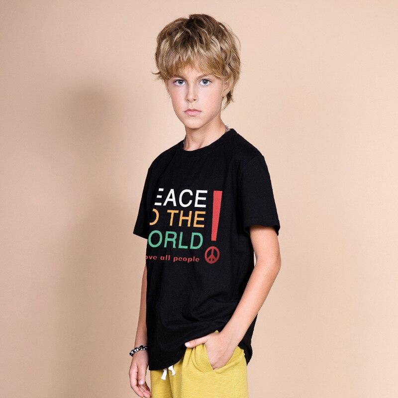 Jongens T-shirt Voor Kinderen Peuter Zomer Tops 2019 Nieuwe Mode Grote Kinderen Katoen Tee Shirt Garcon 10 12 14 jaar Jongens Kleding