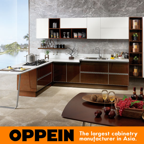 China Manufacture Modern Design Wooden Kitchen Cabinet Door Op15 024 China