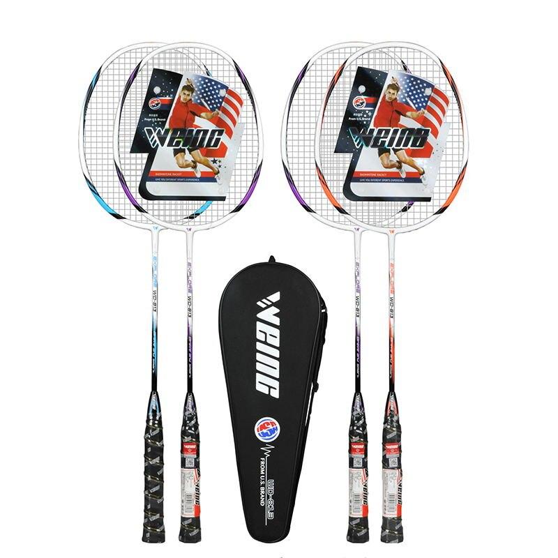 WEING WD813 Badminton Racket Single Shot Double Deat 2 Adult Fitness Beginners Super Light Rack